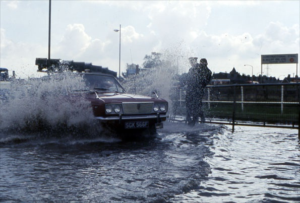 Urban flooding due to surcharged drainage systems 