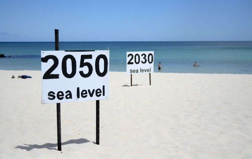 Latest estimate of current rate of global sea level rise: 3.5 mm per year